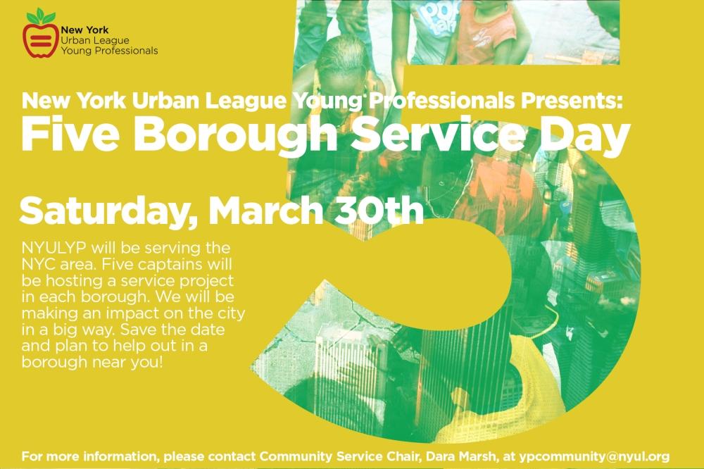 Five Borough Service Day | 3.30.13