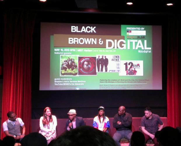 black brown and digital panel 2013